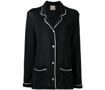 Oversized-Jacke mit Kontrastnähten
