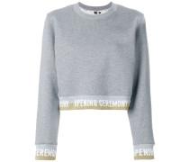 cropped logo band sweatshirt