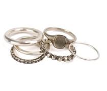 Set aus 6 'Eternity' Ringen