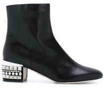embellished heel boots