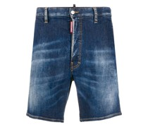 Jeans-Shorts mit Logo-Patch