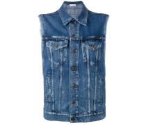Jeansweste mit Eton-Kragen - women - Baumwolle