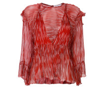 double layered print blouse
