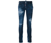 SkinnyJeans in DistressedOptik