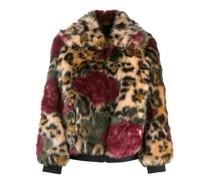 Jacke aus Faux Fur mit Leoparden-Print