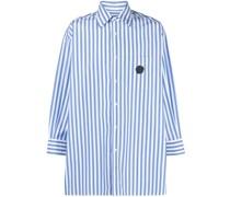 Gestreiftes Popeline-Hemd