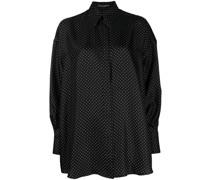 oversized polka-dot print blouse