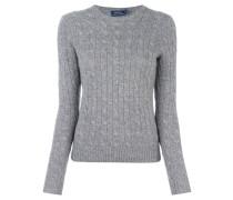 cable knit v neck jumper