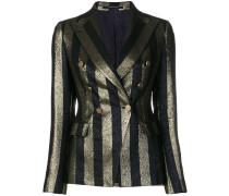 metallic stripe blazer