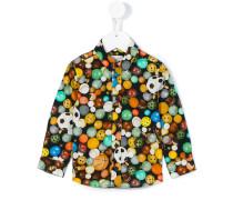 Hemd mit Fußball-Print - kids - Baumwolle - 24