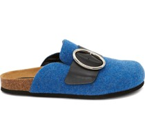 felt buckle loafers