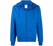 logo-print cotton hoodie