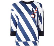 Sweatshirt mit diagonalen Streifen