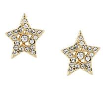 Sternförmige Ohrstecker mit Kristallen