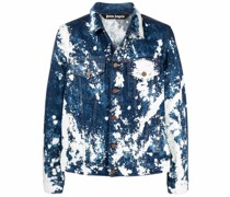paint-print denim jacket