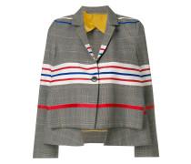 Pleat structured blazer