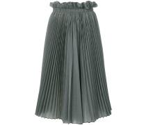 high-waist check skirt