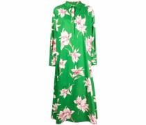 Langes Kleid mit Lilien-Print