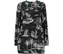 Kleid mit Insel-Print