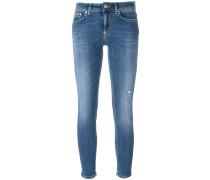- Cropped-Jeans in Distressed-Optik - women