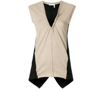 panelled jersey top