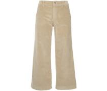 cropped velvet trousers