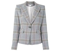 checked fitted blazer