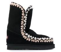 Slip-on-Boots mit Kontrastnaht