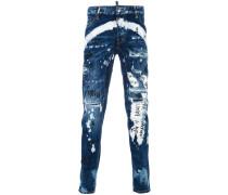 'Tidy Biker' Jeans mit Print