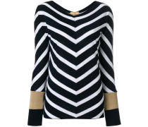 chevron knit jumper