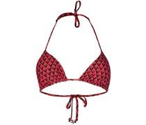 Neckholder-Bikini mit Print