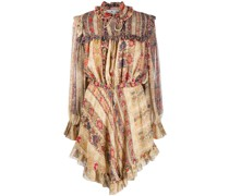 Kleid mit Rüschenborten