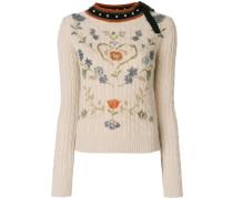 floral patterned jumper