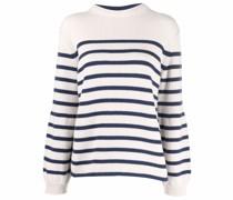 stripe-pattern merino sweater