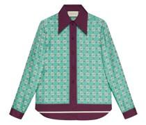 interlocking G print silk shirt