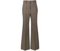 Tweed-Hose mit weitem Bein