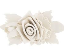 flower appliqué brooch