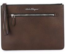 zipped clutch bag - men - Kalbsleder