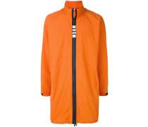 contrast zip rain coat