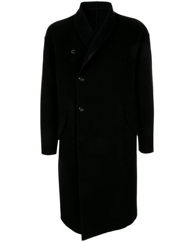 Mantel mit versetztem Verschluss