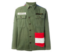 Military-Jacke mit USA-Flagge