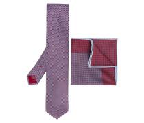 - tie and pocket square set - men - Seide