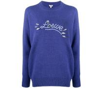 Pullover mit Logo-Verzierung