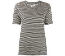Langes T-Shirt mit Streifen