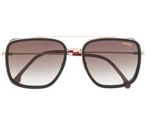 Eckige '207S' Sonnenbrille