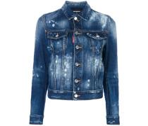 Jeansjacke mit verblasstem Effekt