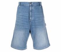 Knielange Ruck Jeans-Shorts