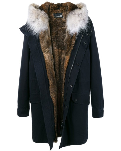 yves salomon herren fur hooded parka reduziert. Black Bedroom Furniture Sets. Home Design Ideas