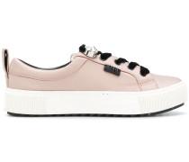 pearl detail low-top sneakers