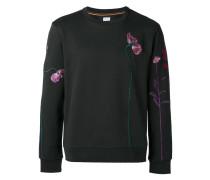 Sweatshirt mit floralen Stickereien